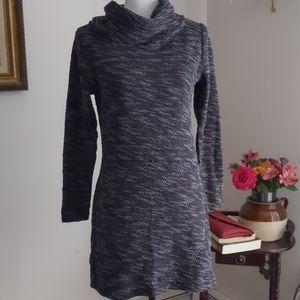 LOFT Gray Toned Medium Sweater Dress